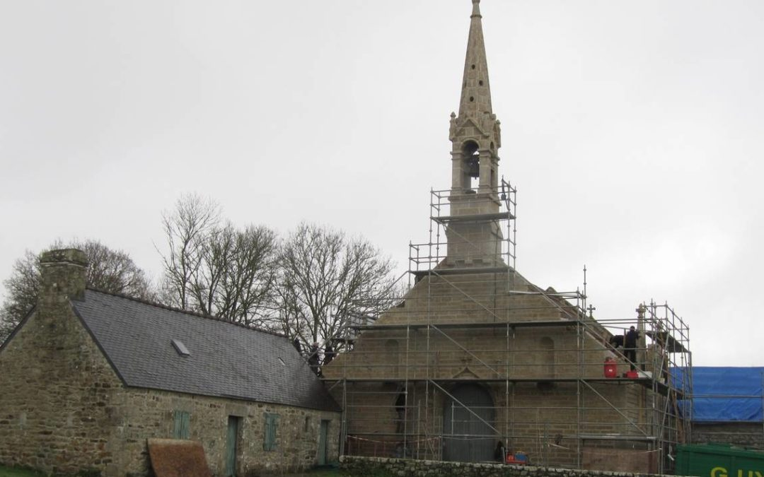 Chapelle de La Clarté: les travaux avancent © Ouest-France