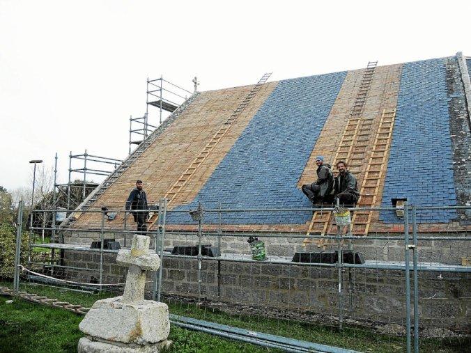 Chapelle Notre-Dame de la Clarté : fin des travaux dans un mois © Le Télégramme